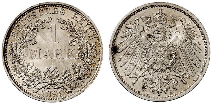 DE 1 Mark 1893 A