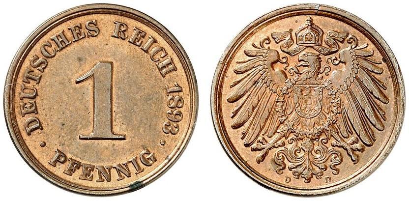 DE 1 Pfennig 1893 D