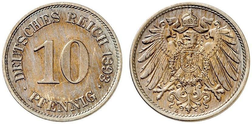 DE 10 Pfennig 1893 E