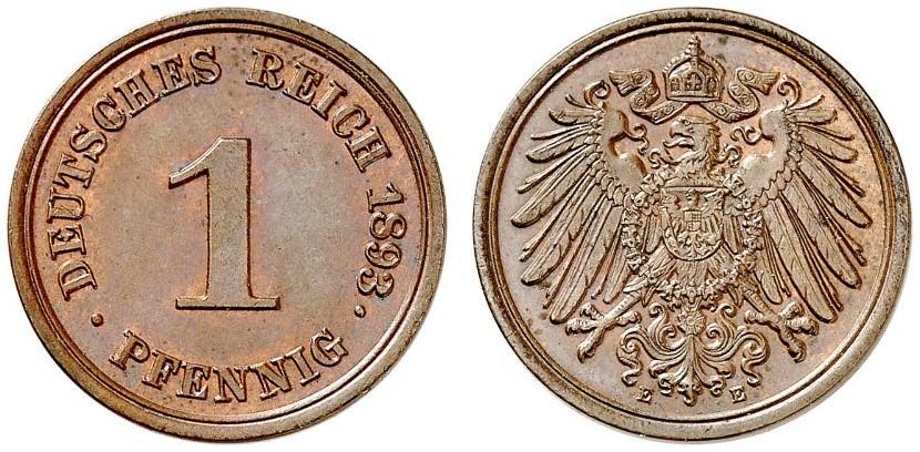DE 1 Pfennig 1893 E