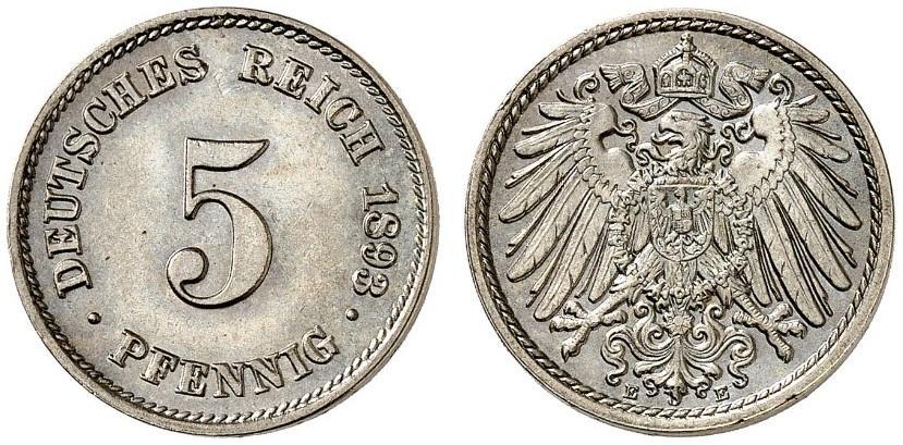 DE 5 Pfennig 1893 E
