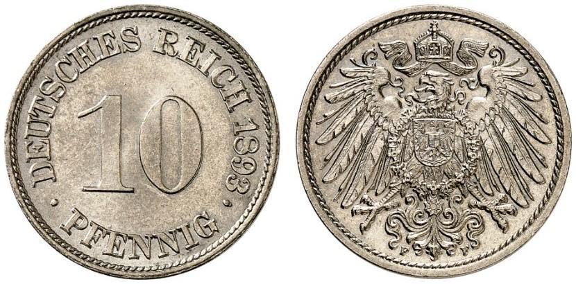 DE 10 Pfennig 1893 F