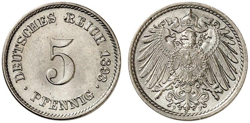 DE 5 Pfennig 1893 F