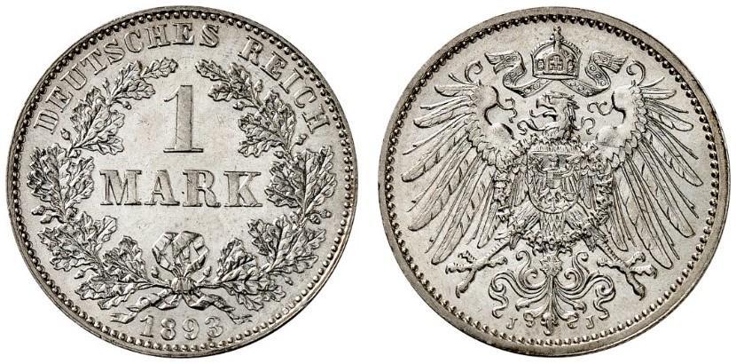 DE 1 Mark 1893 J