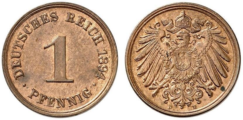 DE 1 Pfennig 1894 D
