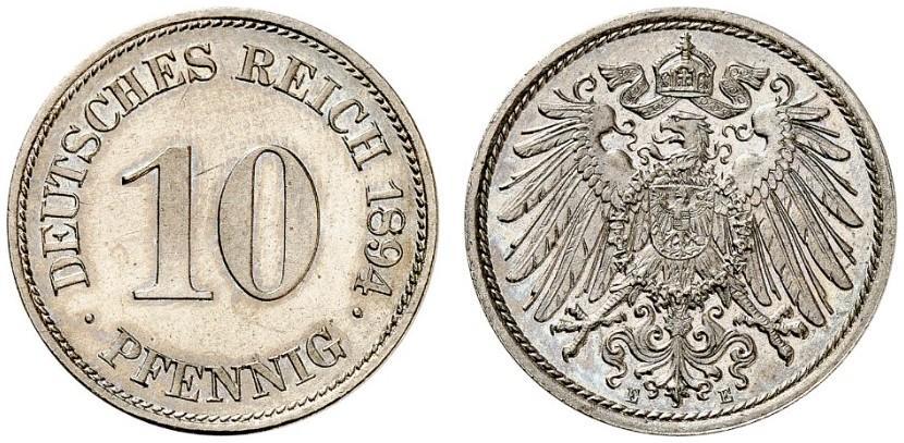 DE 10 Pfennig 1894 E