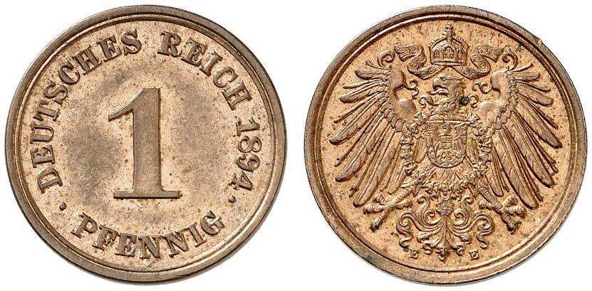 DE 1 Pfennig 1894 E