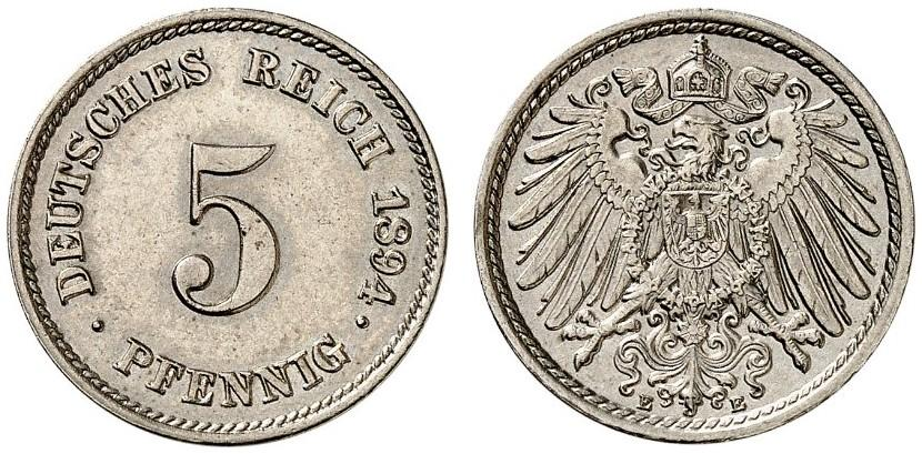 DE 5 Pfennig 1894 E