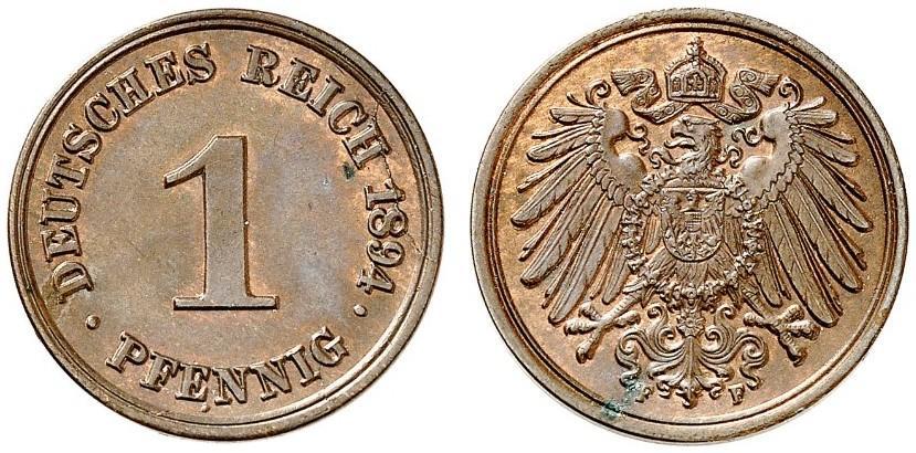 DE 1 Pfennig 1894 F