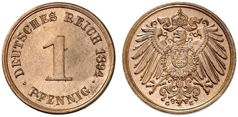 DE 1 Pfennig 1894 G