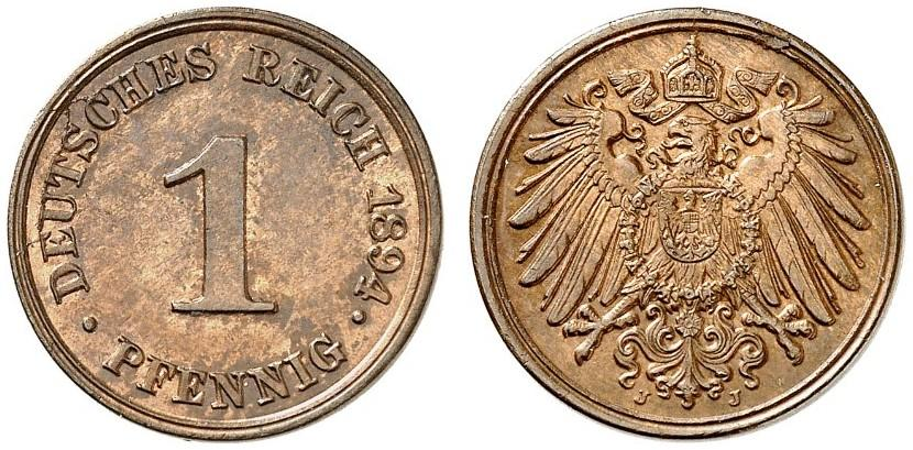 DE 1 Pfennig 1894 J