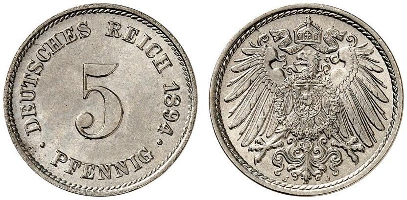 DE 5 Pfennig 1894 J