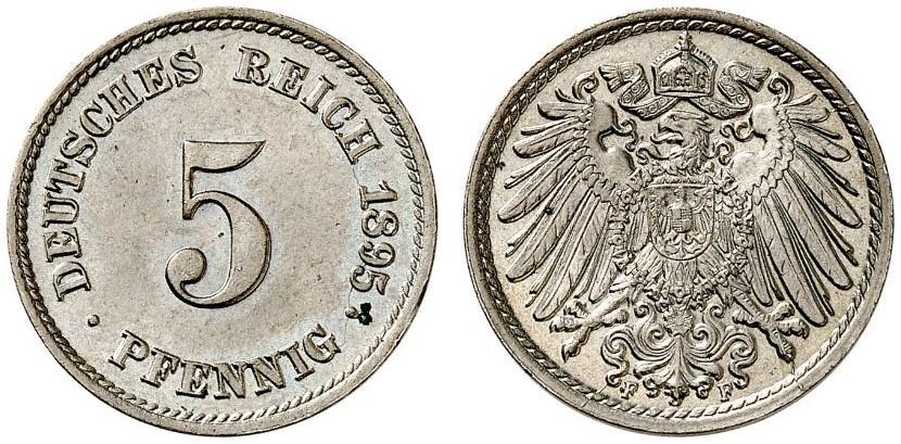 DE 5 Pfennig 1895 F