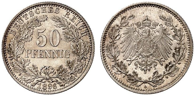 DE 50 Pfennig 1896 A