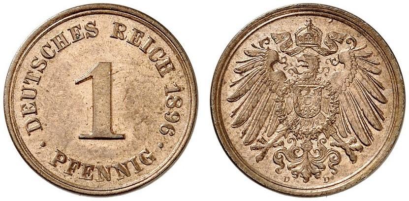 DE 1 Pfennig 1896 D