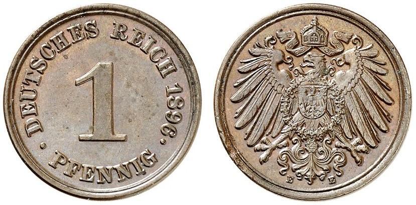 DE 1 Pfennig 1896 E