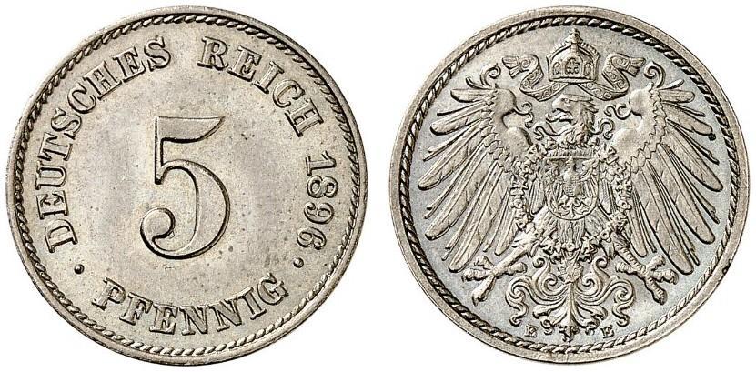 DE 5 Pfennig 1896 E