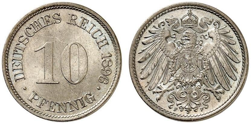 DE 10 Pfennig 1896 F