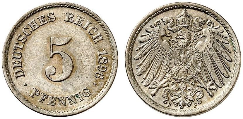 DE 5 Pfennig 1896 F