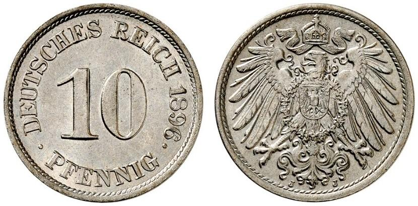 DE 10 Pfennig 1896 J