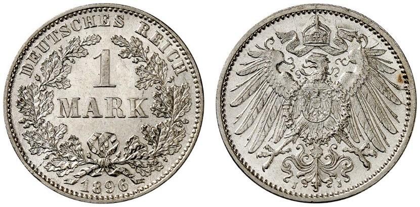 DE 1 Mark 1896 J