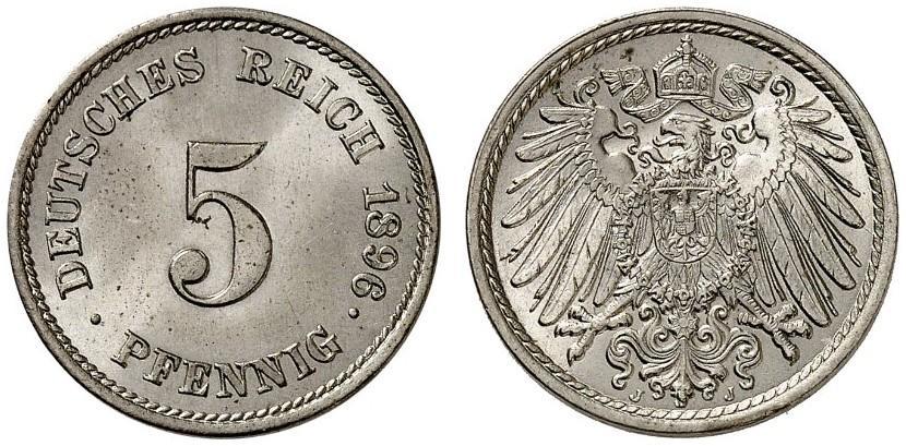 DE 5 Pfennig 1896 J