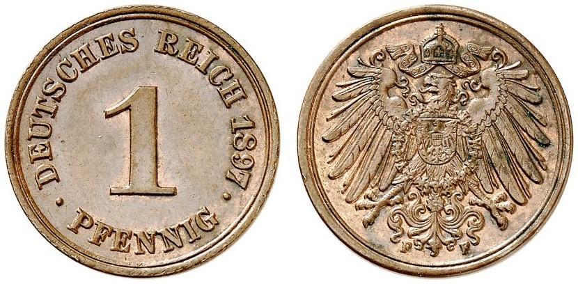 DE 1 Pfennig 1897 F