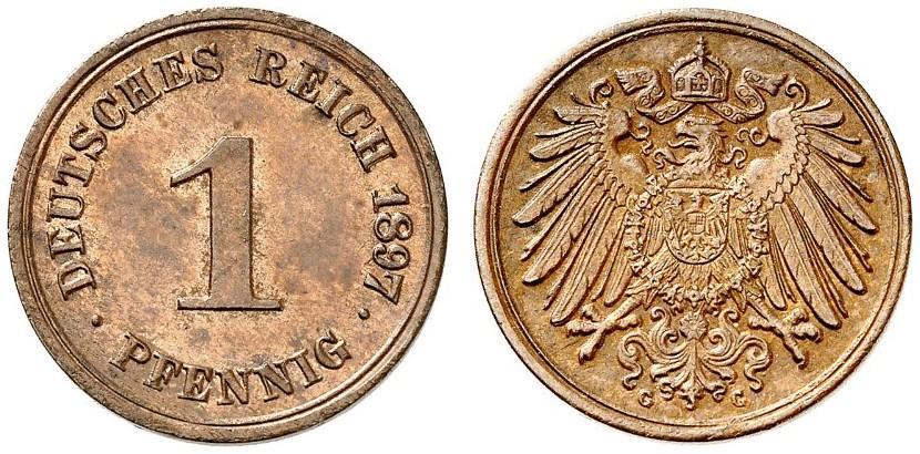 DE 1 Pfennig 1897 G
