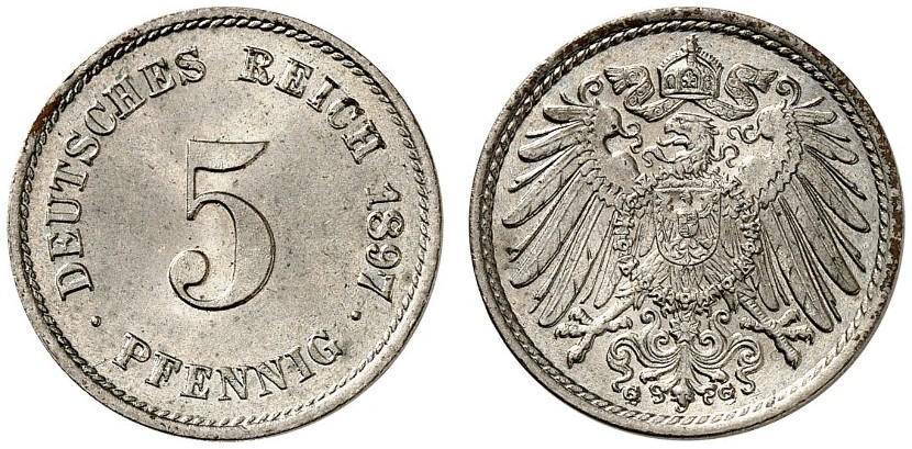 DE 5 Pfennig 1897 G