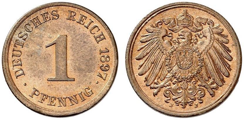 DE 1 Pfennig 1897 J
