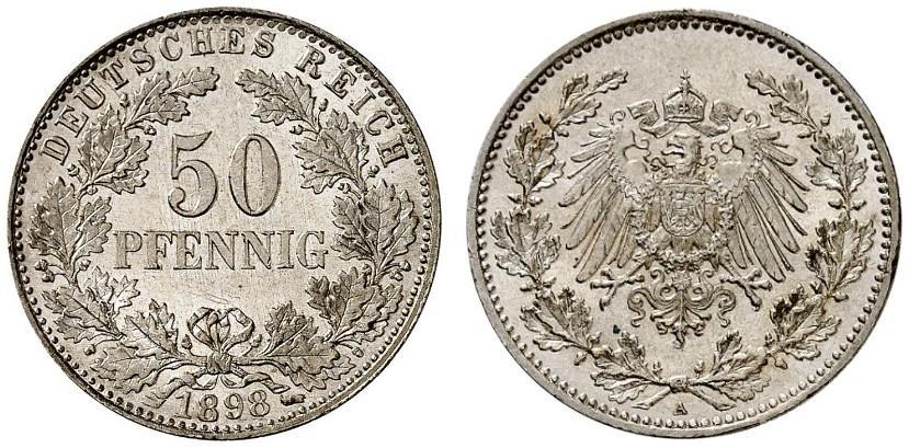 DE 50 Pfennig 1898 A
