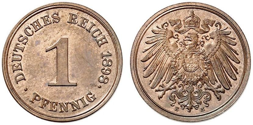 DE 1 Pfennig 1898 E