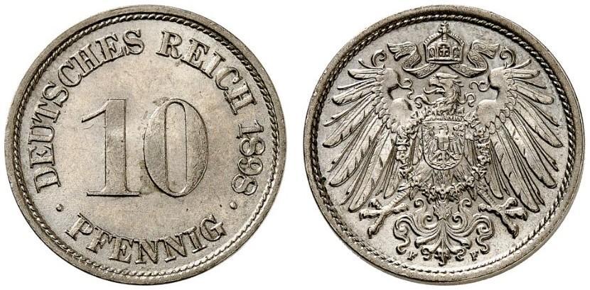 DE 10 Pfennig 1898 F