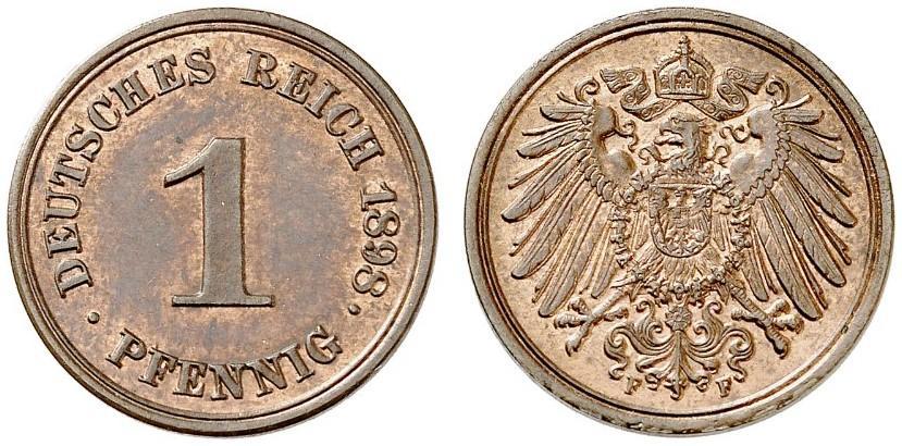 DE 1 Pfennig 1898 F