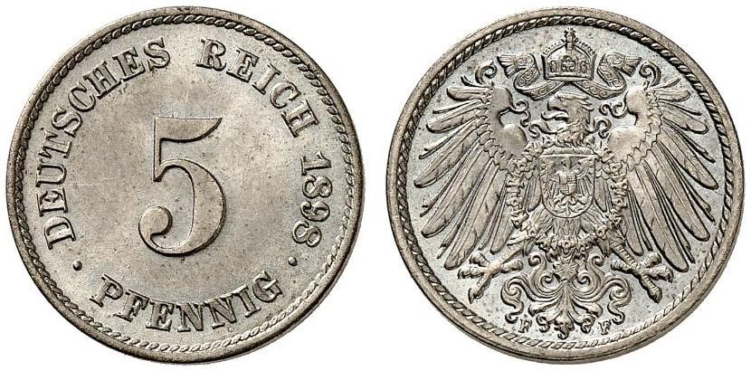 DE 5 Pfennig 1898 F