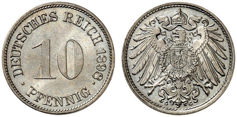 DE 10 Pfennig 1898 G