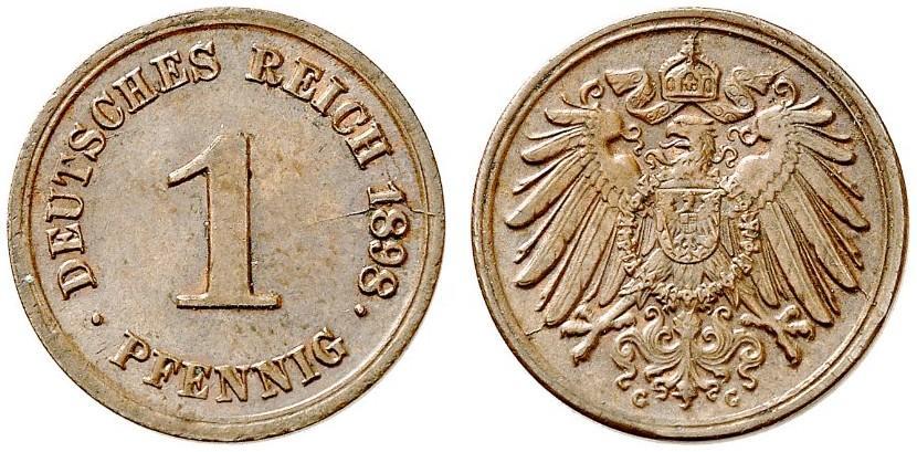 DE 1 Pfennig 1898 G