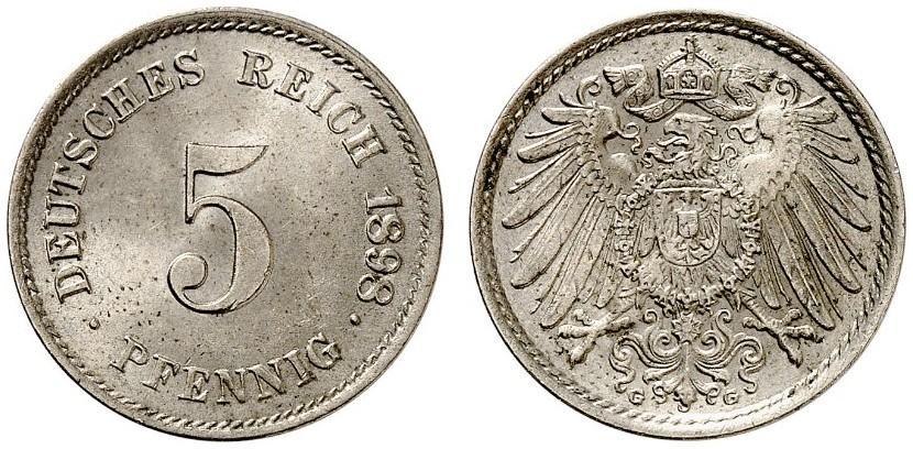 DE 5 Pfennig 1898 G