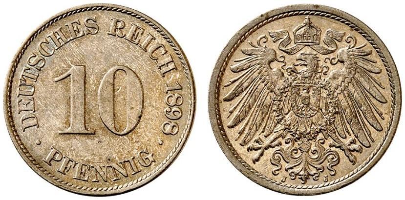 DE 10 Pfennig 1898 J