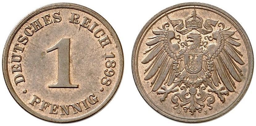 DE 1 Pfennig 1898 J