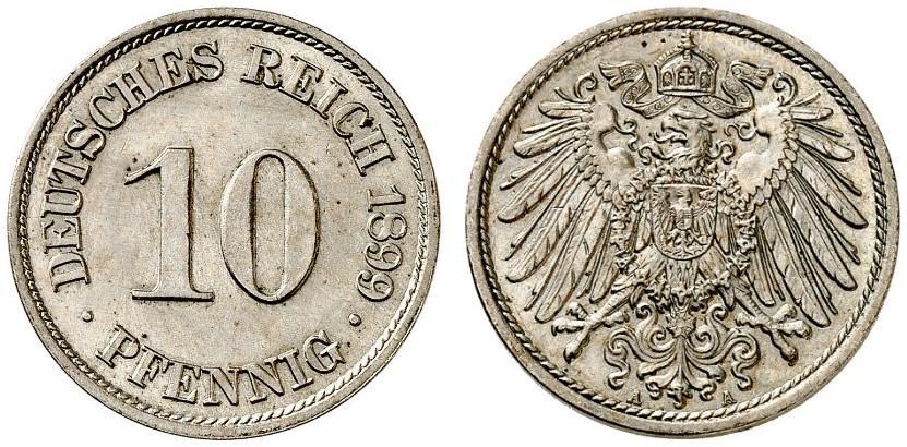 DE 10 Pfennig 1899 A