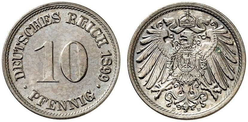 DE 10 Pfennig 1899 D
