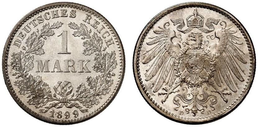 DE 1 Mark 1899 D