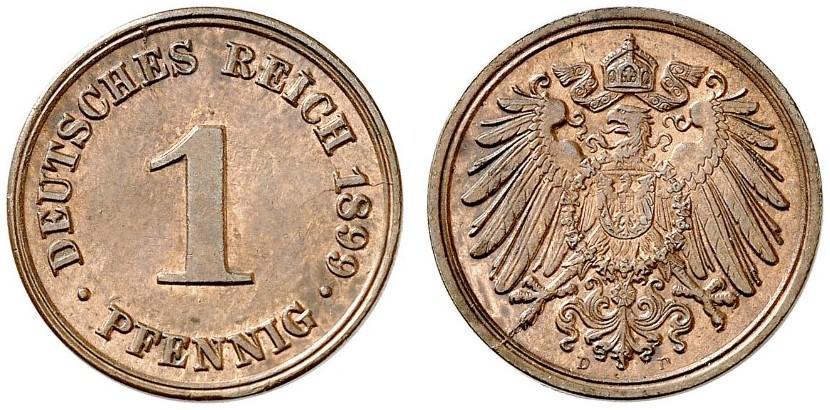 DE 1 Pfennig 1899 D