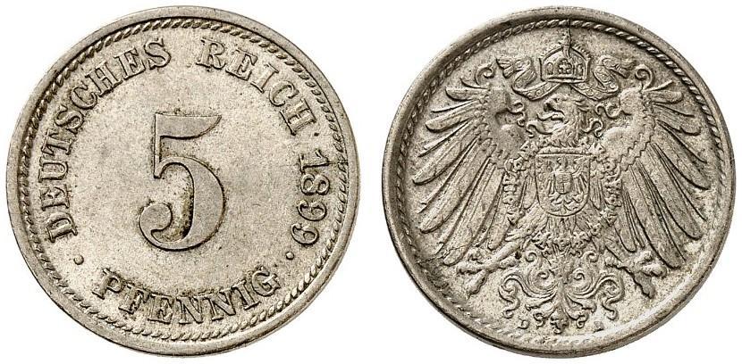 DE 5 Pfennig 1899 D