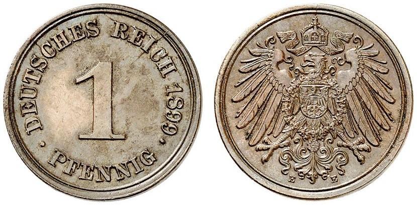 DE 1 Pfennig 1899 E