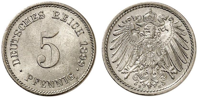 DE 5 Pfennig 1899 E