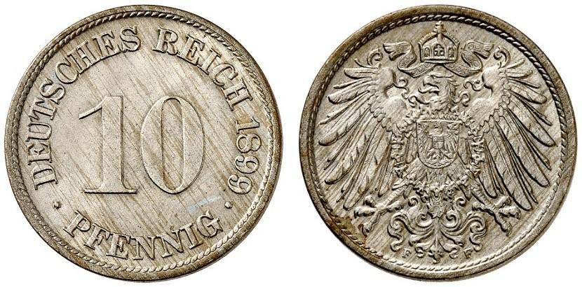 DE 10 Pfennig 1899 F