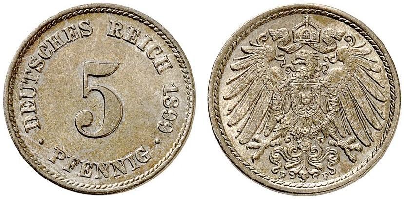 DE 5 Pfennig 1899 F