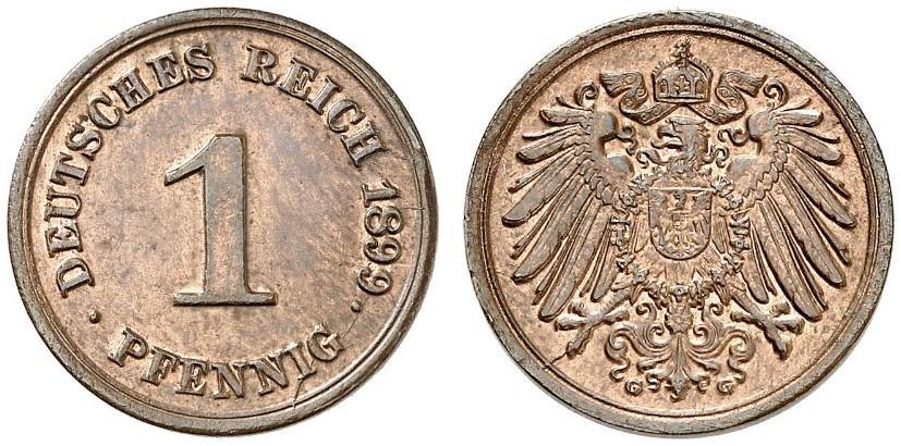 DE 1 Pfennig 1899 G